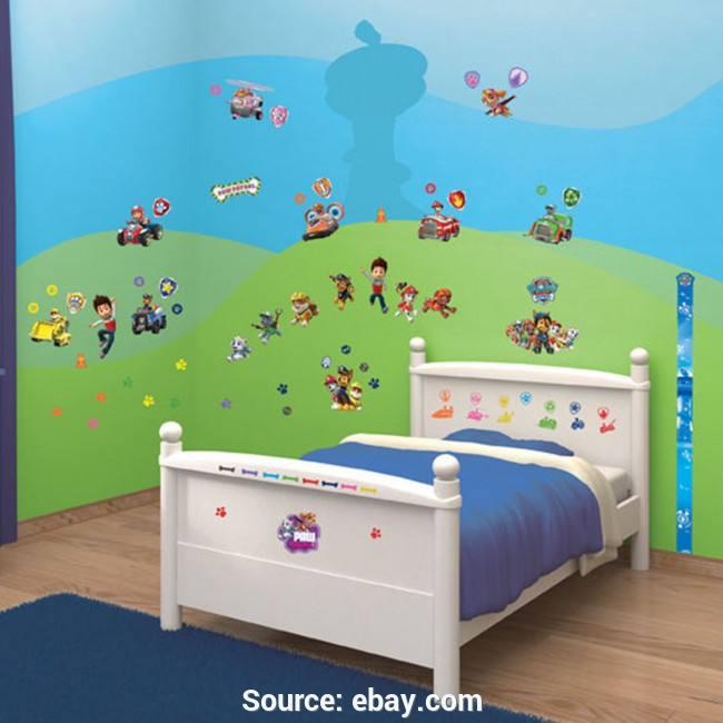 Elegante Adesivi Cameretta Paw Patrol Walltastic Paw Patrol Room Decor Wall Sticker Kit Kids Room Wal