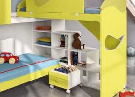 Favoloso Arredamento Faer Camerette Camerette ~ Unisex Children'S Bedroom Furniture Set / Orange Spor