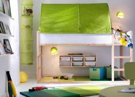 Favoloso Lettini Per Camerette Ikea Ikea Kura Bed. With The Green Tent On Top/ Underneath Thinking O