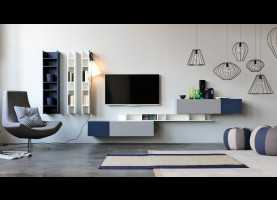 Elegante Doimo Cityline Contract Contemporary Tv Wall Unit / Modular - Citylife 14 - Doimo City