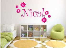Costoso Stickers Cameretta Nomi Wall Sticker Adesivo Murale Wall Stickers Nome Bimb
