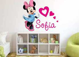 Incredibile Negozio Stickers Adesivi Per Camerette Wall Stickers Adesivi Muro Wall Sticker Disney Minnie + Nome Bimb