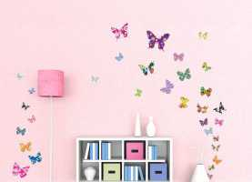 Stupendo Stickers Cameretta Bimba Amazon Decowall Dw-1201, 38 Farfalle Colorate Adesivi da Parete | Wal