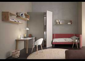 Fantasia Cameretta Di 5 Mq Start Up 01 Girl'S Bedroom Furniture Solution - Cleve