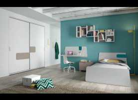 Magnifico Mistral Camerette Logo Bedroom With Free-Standing Bed 06 - Free-Standing Beds, Evo - Mis
