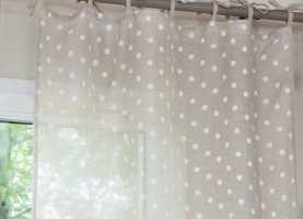 Imponente Tende Cameretta A Pois Tenda In Lino A Pois Beige   For The Home   Pinterest   Tend